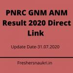 PNRC GNM ANM Result 2020 Direct Link