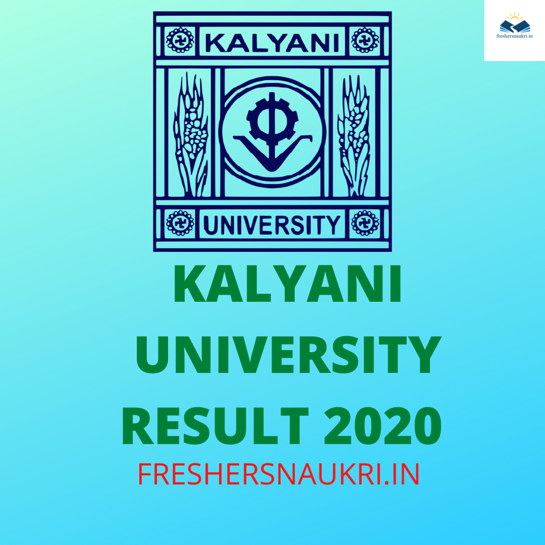 Kalyani University Results 2020 (Out)