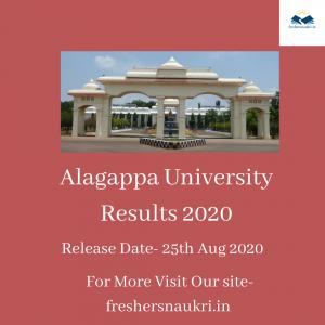 Alagappa University Results 2020
