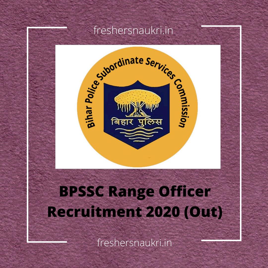 BPSSC Range Officer Recruitment 2020 (Out)