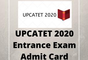 UPCATET 2020 Entrance Exam Admit Card