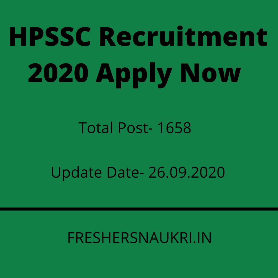HPSSC Recruitment 2020 Apply Now