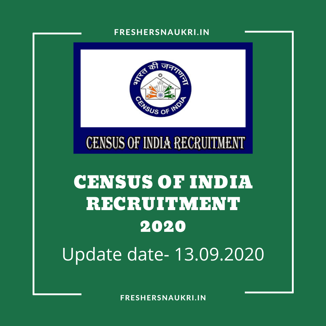 Census of India Recruitment 2020
