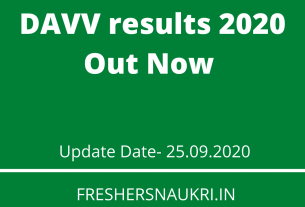 DAVV results 2020 Out Now