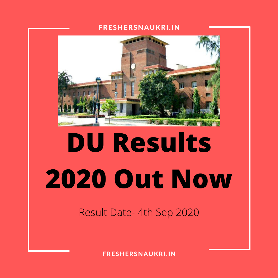 DU Results 2020 Out Now