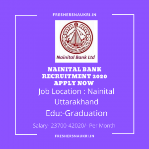 Nainital Bank Recruitment 2020 Apply Now