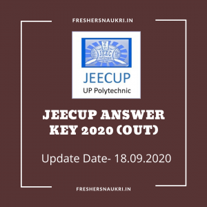 JEECUP Answer Key 2020 (Out)