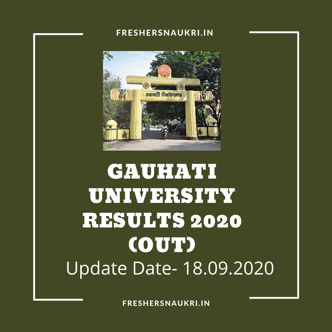 Gauhati University Results 2020 (Out)