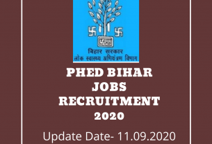 PHED Bihar Jobs Recruitment 2020