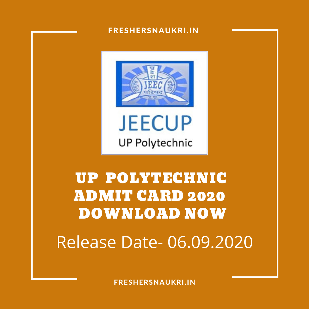 UP Polytechnic admit card 2020 Download Now