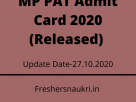 MP PAT Admit Card 2020 (Released)