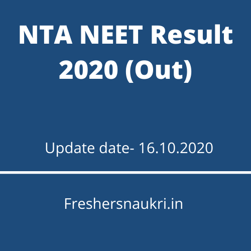 NTA NEET Result 2020 (Out)