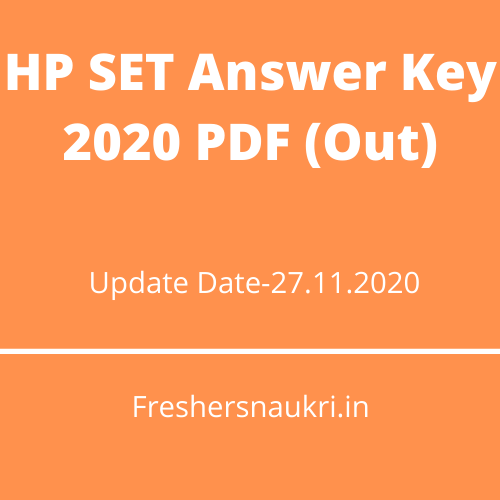 HP SET Answer Key 2020 PDF (Out)