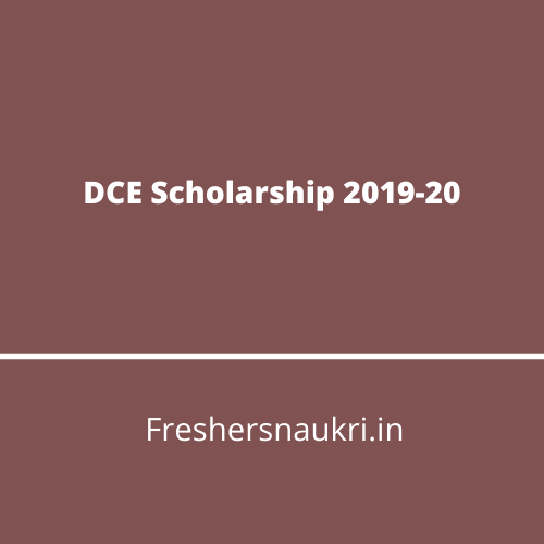 DCE Scholarship 2019-20
