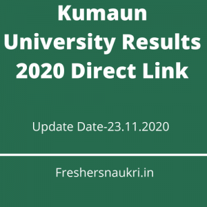 Kumaun University Results 2020 Direct Link