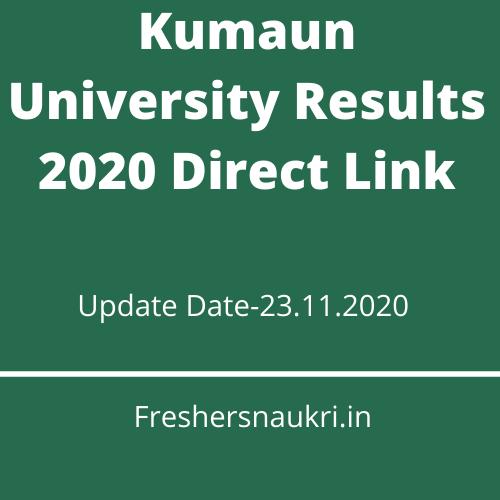 Kumaun University Results 2020 Direct Link
