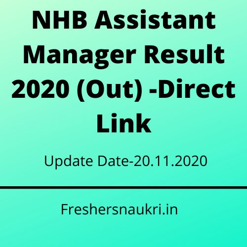 NHB Assistant Manager Result 2020 (Out) -Direct Link