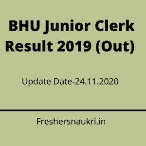 BHU Junior Clerk Result 2019 (Out) Direct Link