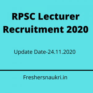 RPSC Lecturer Recruitment 2020
