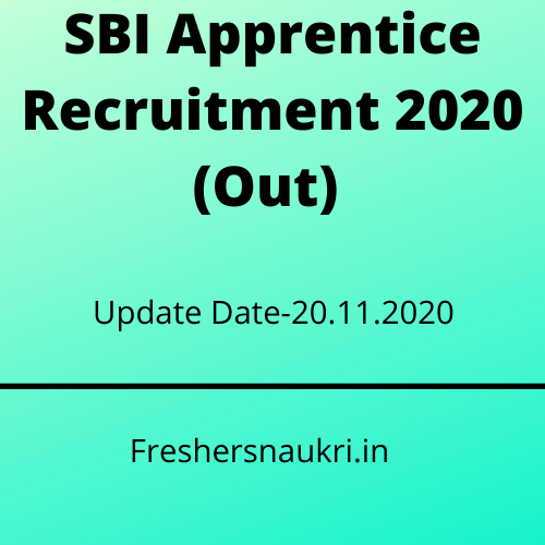 SBI Apprentice Recruitment 2020 (Out)