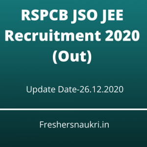 RSPCB JSO JEE Recruitment 2020 (Out)