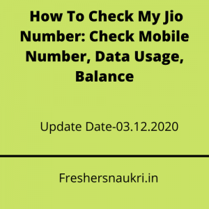 How To Check My Jio Number: Check Mobile Number, Data Usage, Balance