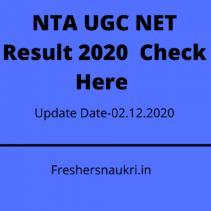 NTA UGC NET Result 2020  Check Here