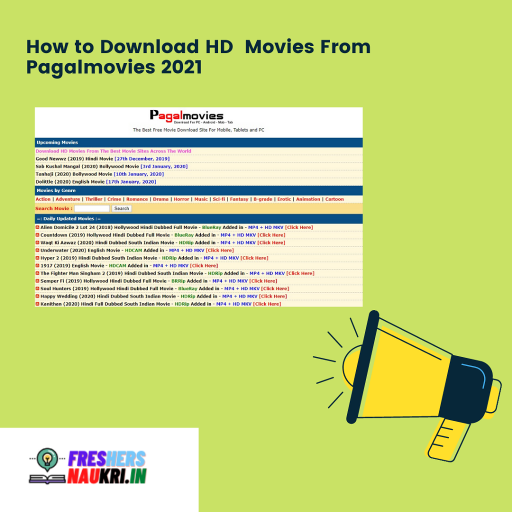 How to Download HD Movies From Pagalmovies 2021